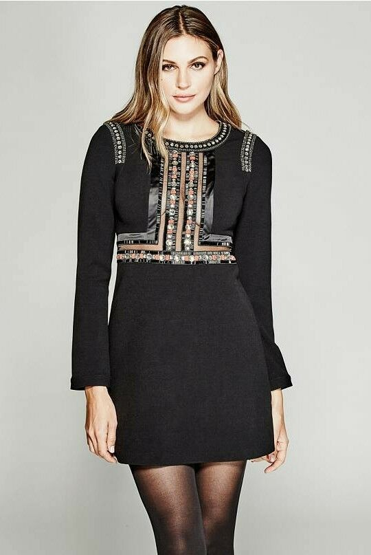GUESS GUESS GUESS BY MARCIANO LORIN EXCLUSIVE EMBELLISHED TOP DRESS c568c3