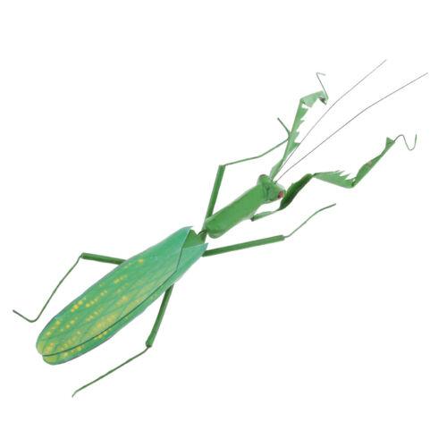 2 stücke Realistische Insektenstatue Gottesanbeterin /& Zikade Figuren