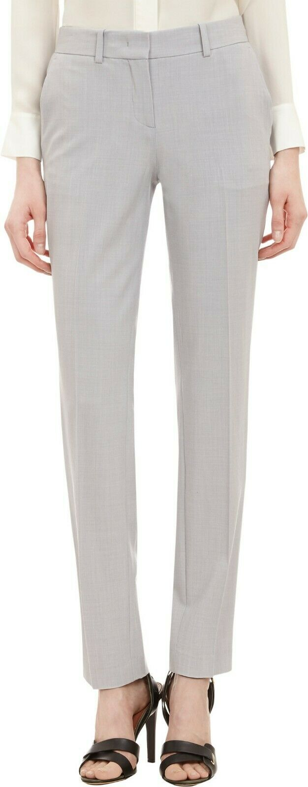 Theory Super Slim Women's Pants in Light Heather Grey US Size 0