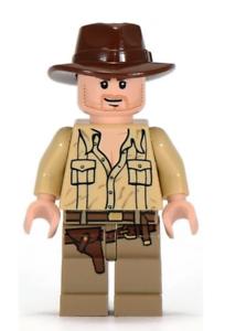 Lego Rene Belloq 7623 Raiders of the Lost Ark Indiana Jones Minifigure