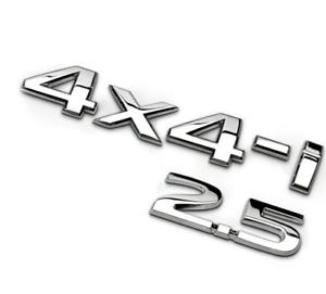 4X4-i 2.5 Car Chrome Metal Emblem Badge Rear Decal Fit for Nissan X-TRAIL