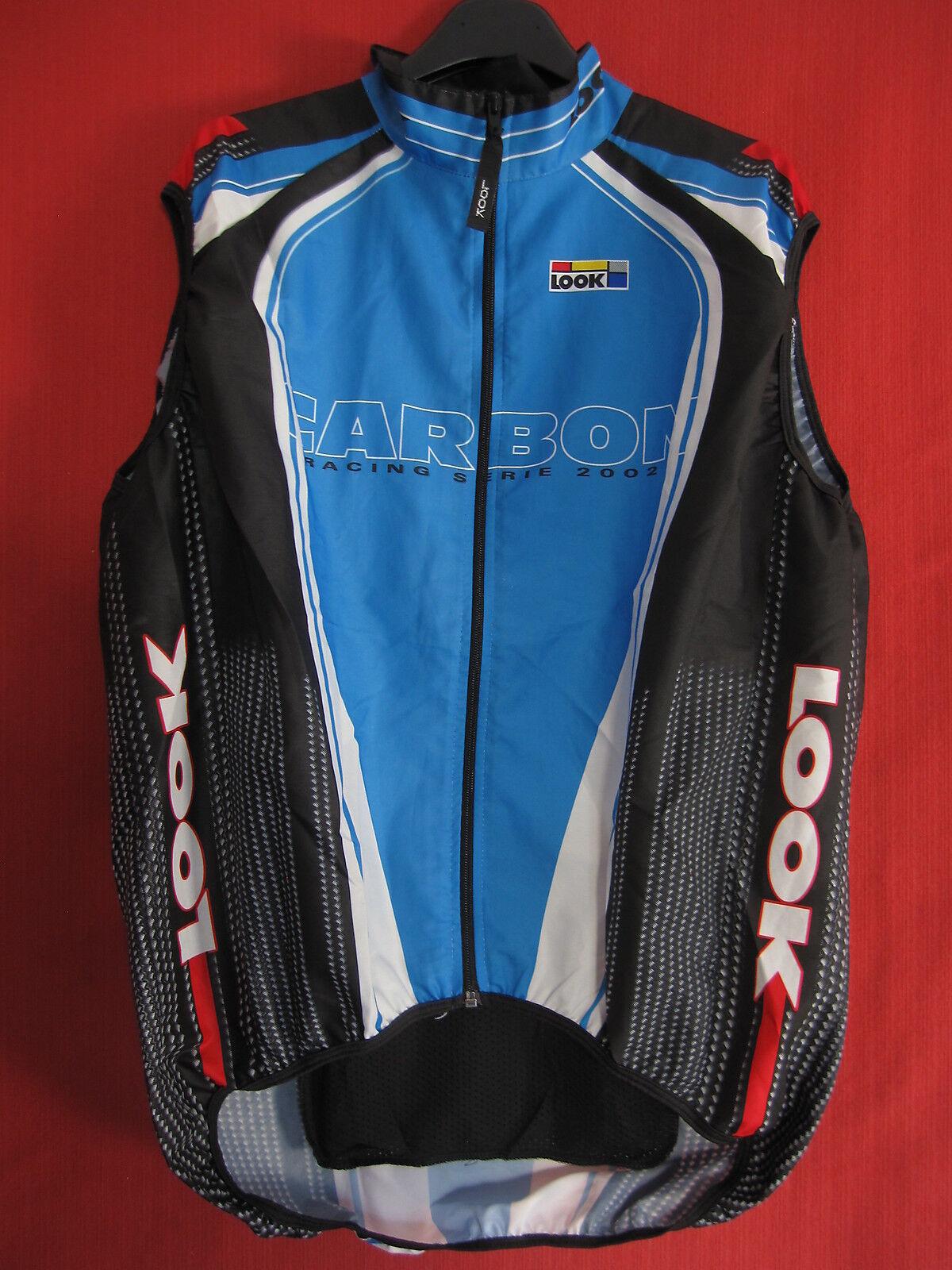 Maillot cycliste LOOK Carbon Racing 2002 sans manche coupe vent Jersey - 4   L