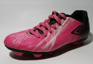 ea37fb39d UMBRO Soccer Shoes Cleats Girls 4 Youth Big Kids Pink Black Lace Up ...
