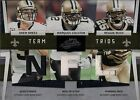 2009 Donruss Absolute Memorabilia Team Trios Materials NFL Drew Brees/ Reggie Bush/ Marques Colston New Orleans Saints #16 Football Card