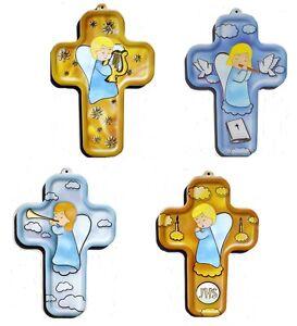 Kinder kreuz mit Engel ... kleines kindgerechtes Kreuz Wand kreuz mit Engel