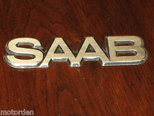 "SAAB old alloy metal motor car badge, 6"" or 152mm FREE POST"