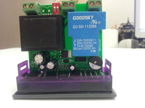 58 to 230 Fahrenheit Sensor A166 US SEL 30A 12V Digital Temperature Controller