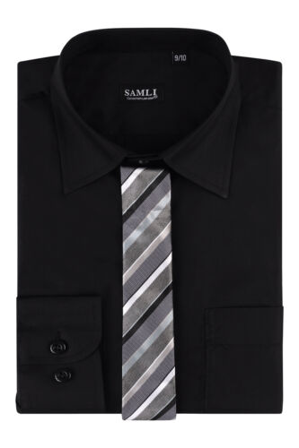 New Shirt Kids Boys Plain Long Ages Sleeved Formalsmart 1y15years Formal Party