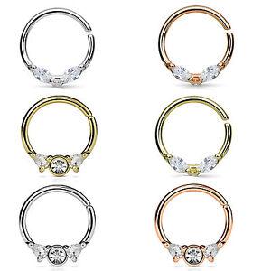 Nasenring-Septum-Ring-Piercing-Nasenpiercing-Tragus-Helix-Ohr-Kristall-Stecker