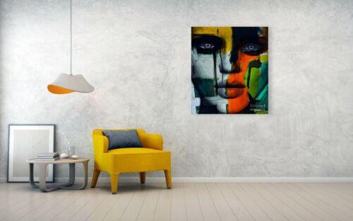 Female Expressive Silbergebürstetes Alu 90x75 cm Pop Art//Bild//Poster//Druck//Loft
