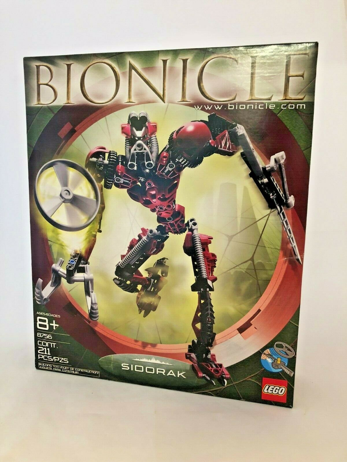 Lego Bionicle guerreros Sidorak (8756), caja sin abrir nuevo, Metru Nui, Vintage 2004