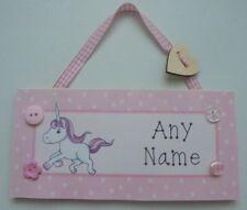 Personalised Magical Unicorns Children Bedroom Door Kids Name Sign Plaque DPE16