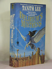 1st, 2 signatures, Tales Flat Earth 4: Delirium's Mistress by Tanith Lee (1986)