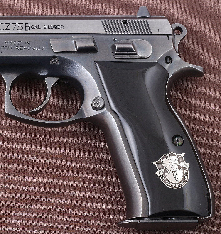 CZ 75 B 85 B Negro Agarre Con Plata