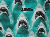 Jaws Quilting Fabric, Bright Blue, Classic, Sewing, 100% Cotton, FQ, BTHY, BTY