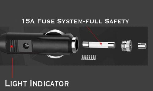 12-24V 15A Strom Motorrad Auto-Zigarettenanzünder Stecker Verlängerung 3M Kabel