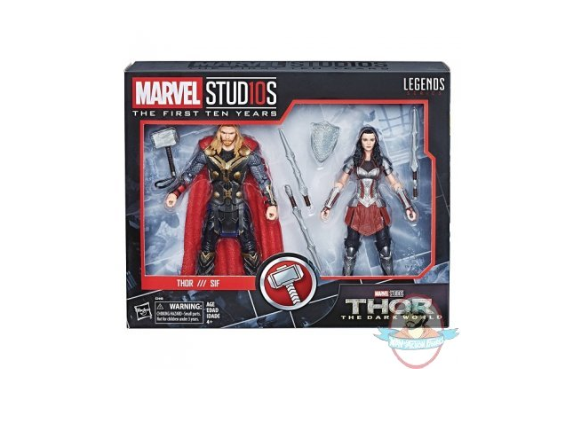 Marvel Cinematic Universe 10th Anniversary Thor & Lady Sif Set Hasbro