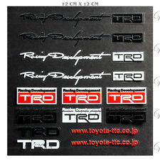 TRD Reflective Car Sticker Door Windshield Window Vinyl Decal Set JDM for Toyota