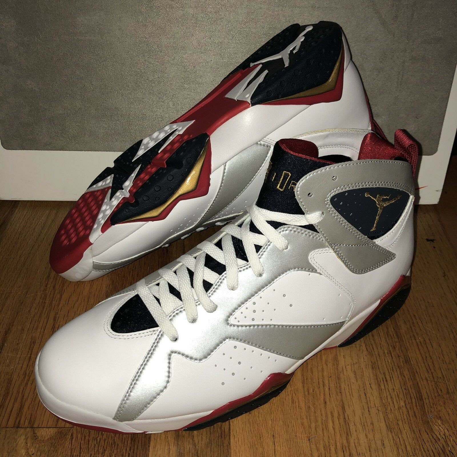 Nike Air Jordan Retro Mens 7 VII Olympic USA Mens Retro Size 13 DS Red White Blue f248f1