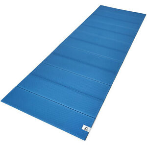 Reebok-Compact-Folding-Versatile-Non-Slip-Home-Exercise-Training-Yoga-Mat-Blue