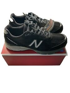 Men-s-New-Balance-990v4-M990BK4-Walking-Running-Shoe-White-Black-Size-12