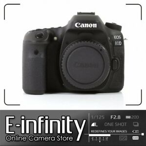 NEUF NEW Canon EOS 80D DSLR Camera Built-In Wi-Fi with NFC Body (Kit Box)