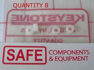"Keystone 875 QTY-8 Round #4 Clear Hole Spacer Nylon 1/8-ID x 1/4OD x 1/8""L N36-1"