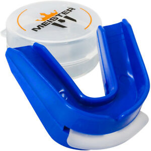 Blue FANGS Gum Shield Mouth Guard Teeth Protector Boxing Wrestling MMA Senior