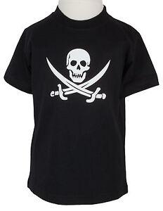 Kinder-T-shirt-Pirat-schwarz-86-bis-128