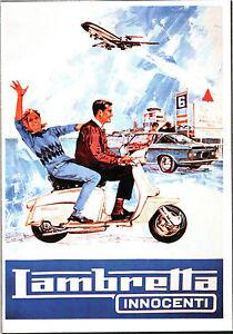 CARTOLINA-ILLUSTRATA-D-039-EPOCA-PUBBLICITA-LAMBRETTA-Innocenti-1950