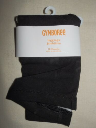 Gymboree RIGHT MEOW Solid Basic Black Leggings Pant NWT 12 18 24 3T