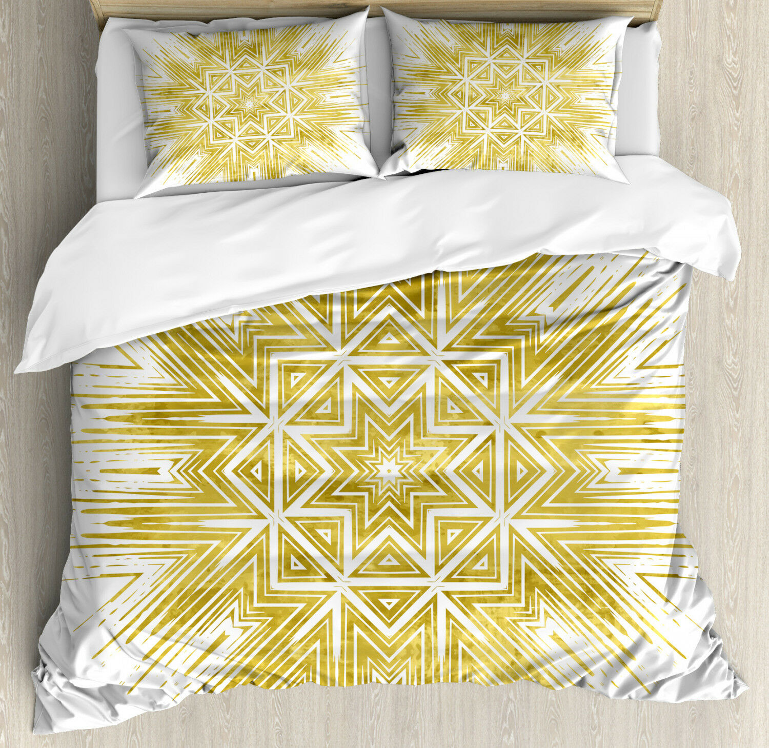 Mandala Duvet Cover Set with Pillow Shams Geometric Vivid Print