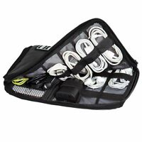 Black Electronic Accessories Cable Usb Drive Earphone Parts Insert Organizer Bag