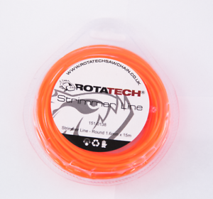 Rotatech 15m x 1.6mm Round trimmer Line For Black /& Decker Electric Strimmers