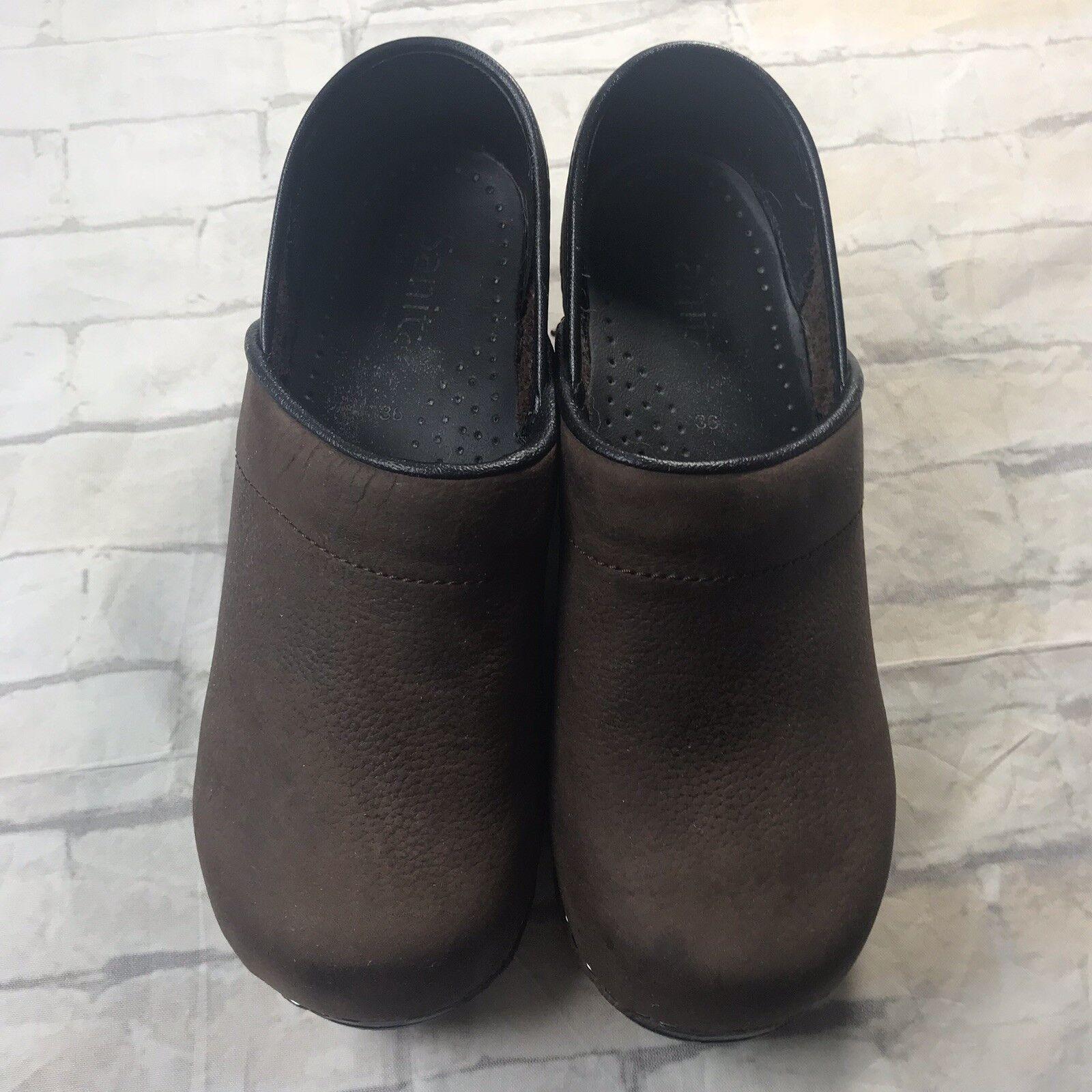 Sanita Koi Professional Nursing Clogs Size 6 36 Women Brown Brown Brown Leather Slip On shoes 202e73