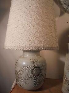 Ceramique-Vintage-50-Rare-Lampe-Scarifiee-Chardons-MARIUS-BESSONE-Vallauris