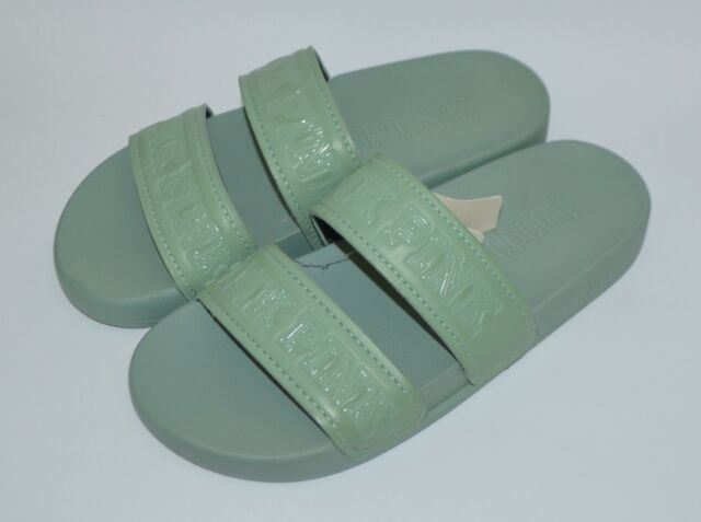 9488b6d594fa Frequently bought together. VICTORIA S SECRET PINK MINT GREEN DOUBLE STRAP  SLIDES ...