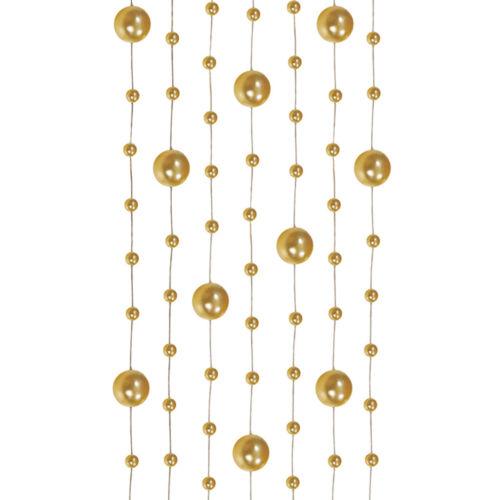 Dekoband Perlengirlande 5 Stück je 1,3 m Perlenband Bänder Brautstrauß Hochzeit