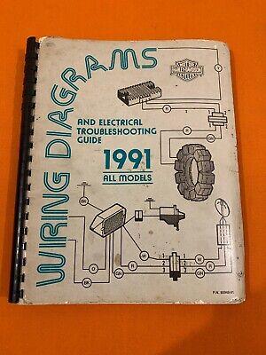 HARLEY DAVIDSON 1991 XL DYNA SOFTAIL FLT WIRING DIAGRAMS MANUAL 99948-91 on