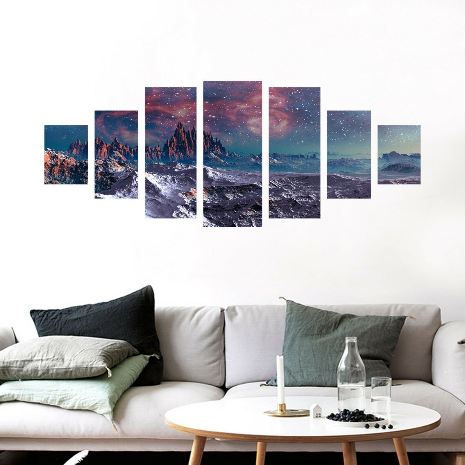3D Night Hills 74 Unframed Print Wall Paper Decal Wall Deco Indoor AJ Jenny
