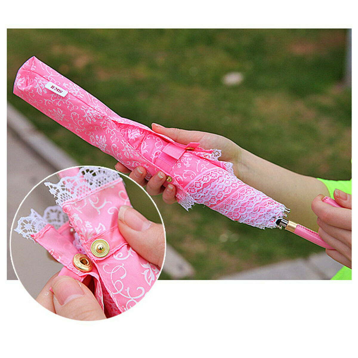 Lady Double Layer Umbrella Windproof Inverted Upside Down Reverse UV Protection