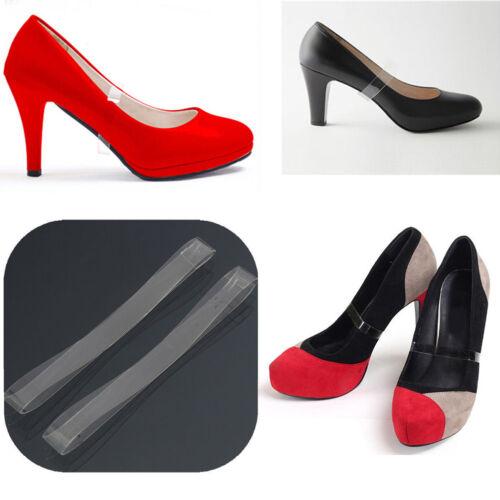 4x klare transparente unsichtbare High Heel Schuhgurte für lose Schuhe haltenWRD