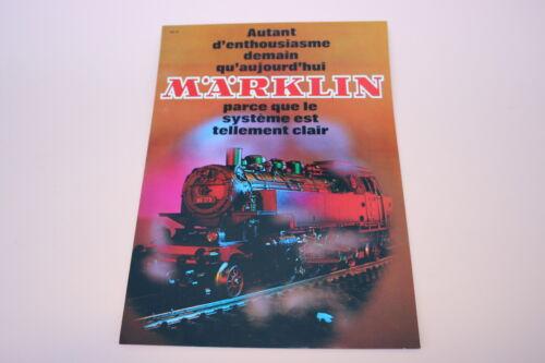 D912 Rare dépliant TRAIN MARKLIN 1971 F 2 p etat