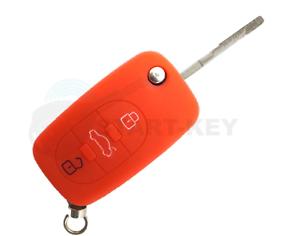 Audi Funkschlüssel Clé Housse en silicone a2 a3 a4 a6 a8 TT key chiave Cle Rouge
