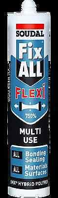 Soudal Fix All FLEX Adhesive Automotive Sika Style WHITE
