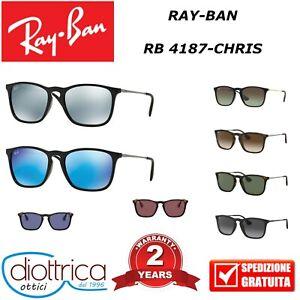 RAYBAN-RB-4187-CHRIS-RAY-BAN-UOMO-DONNA-SPECCHIATO-OCCHIALE-DA-SOLE-OCCHIALI