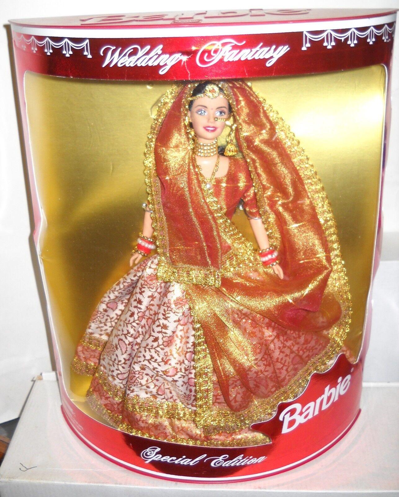 Raro nunca quitado de la Caja Mattel Leo India Boda Fantasía Barbie problema extranjeros