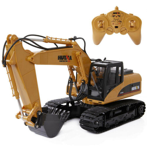 Remote Control Excavator Toy 2.4Ghz 15 Channel Full Function Tractor Toy Kids