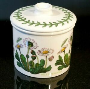 Beautiful-Portmeirion-Botanic-Garden-Daisy-Drum-Sugar-Bowl-amp-Lid