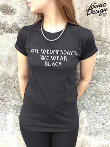 * ON WEDNESDAYS WE WEAR BLACK Mean Girls T-shirt Top Fashion Tumblr Grunge Pink*